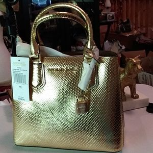 Michael Mora Embossed Leather Bag NWT